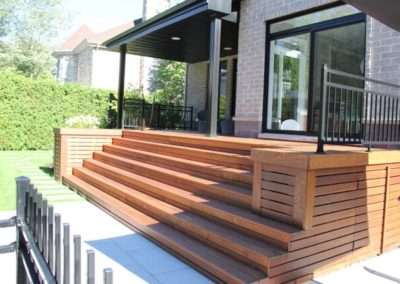 Balcony in ipe wood