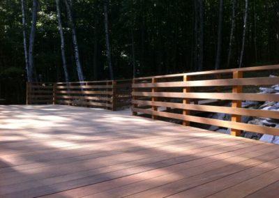 Ipe deck for cottage