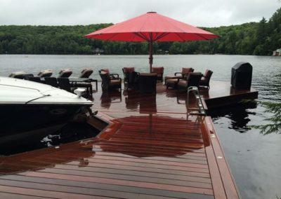 Ipe deck on a lake