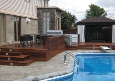 Ipe next to pool