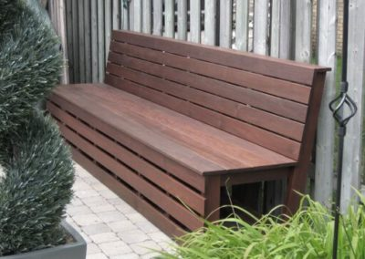 Ipe wood bench