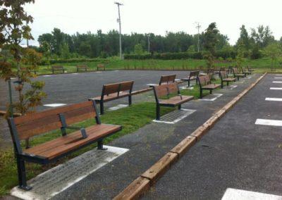 Ipe wood benches