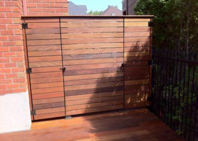 Ipe wood door