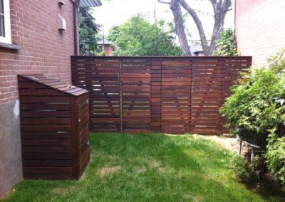 Ipe wood gates