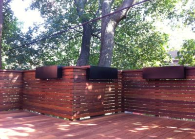 Ipe wood railing-screen