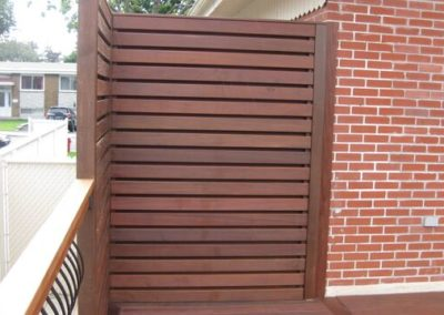 Ipe wood screens