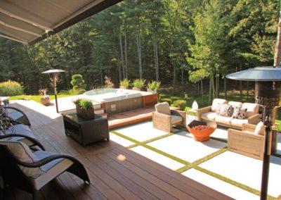 Nice retreat in ipe decking