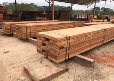 a- ipe wood blocks before millin