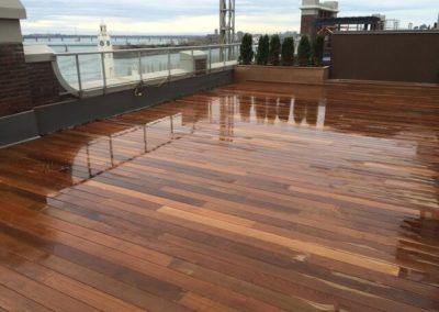 rooftop deck in Ipé wood